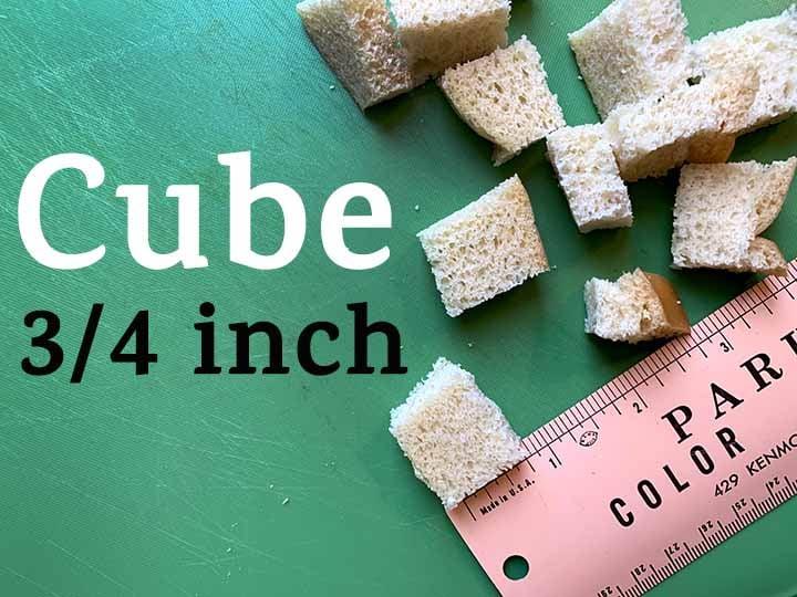 step 2 cube the zero net carb bread