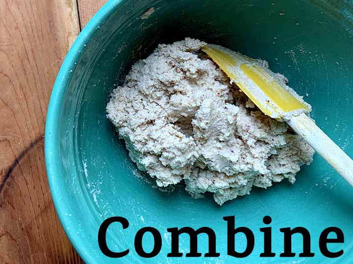 step 3 combine all ingredients of Low Carb Snowball Cookies