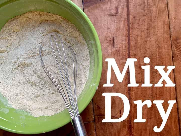 step 3 mix dry ingredients