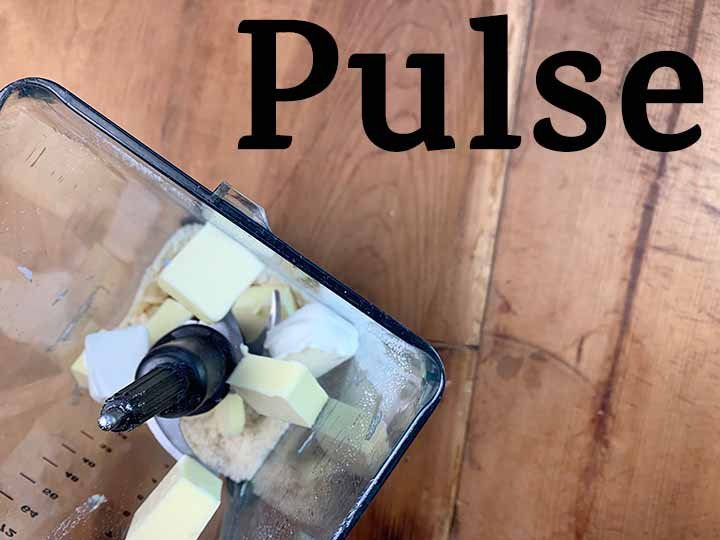 step 3 pulse wet ingredients in a blender