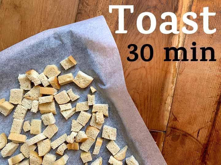 step 3 toast bread cubes