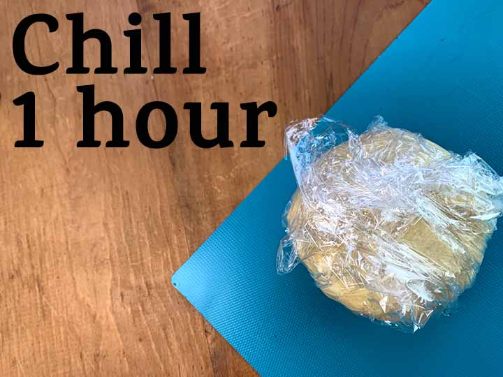 step 6 chill dough for 1 hour