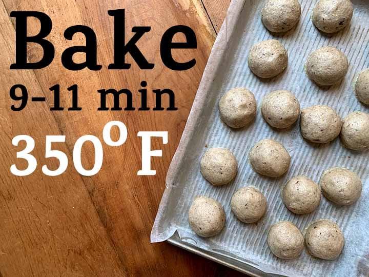 Step 8 Bake low carb Snowball Cookies