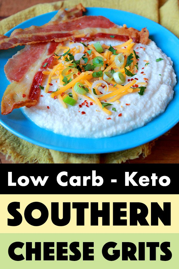 Pinterest Pin for Keto Cheese Grits