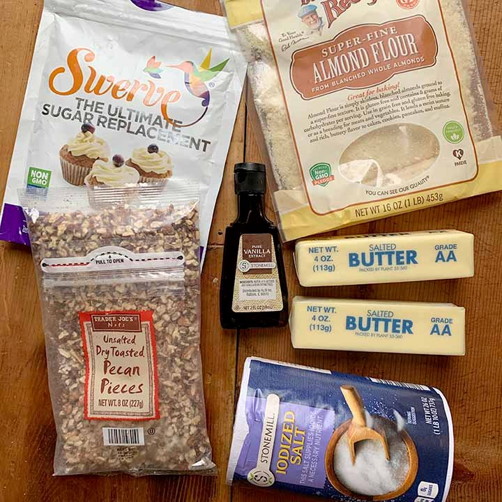 Ingredients for Keto Snowball Cookies