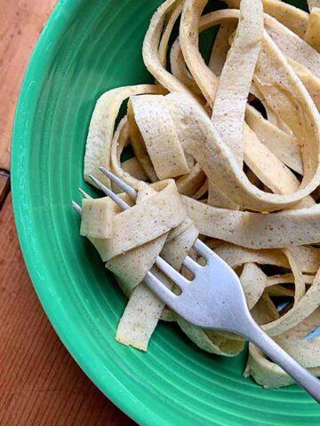 a bowl of Keto Psyllium Noodles