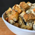 a bowl of Keto Bread Stuffing