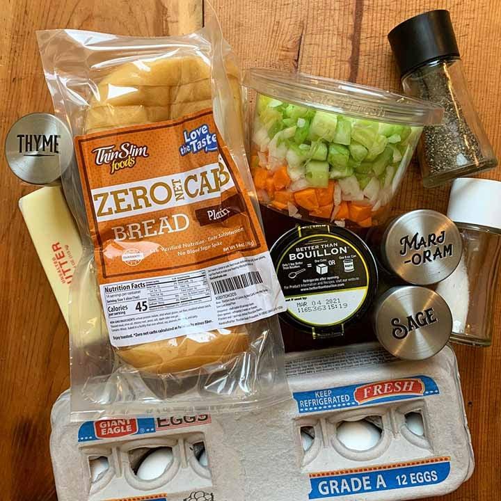 ingredients for Keto stuffing
