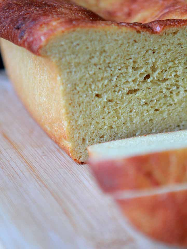 close up of Lupin Flour sandwich bread