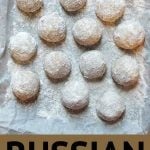 Pinterest Pin for Russian Tea Cakes