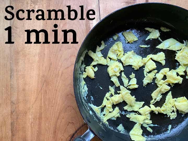 step 1 scramble eggs