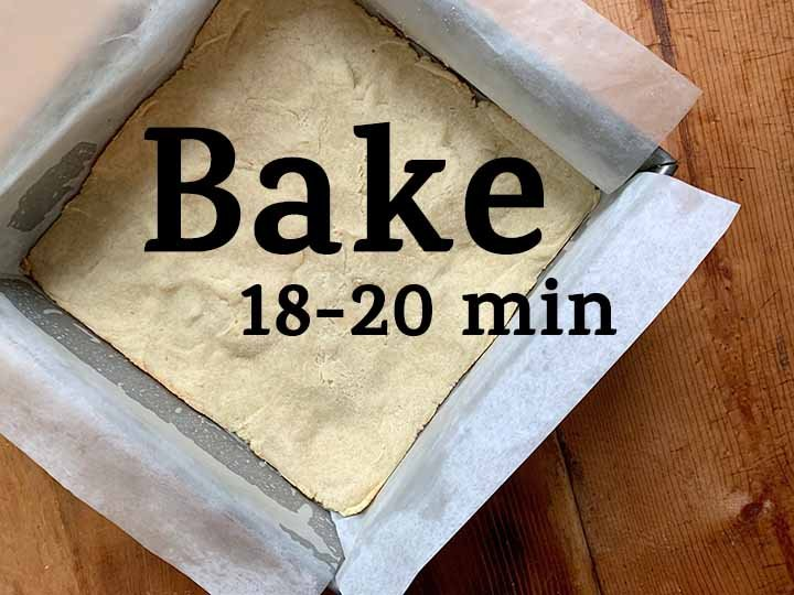 step 4 bake the crust for 18-20 minutes