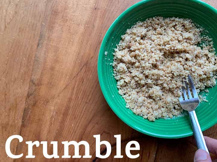 step 6 mix up the crumble topping