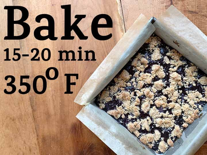 step 8 bake at 350 degrees for 15-20 minutes