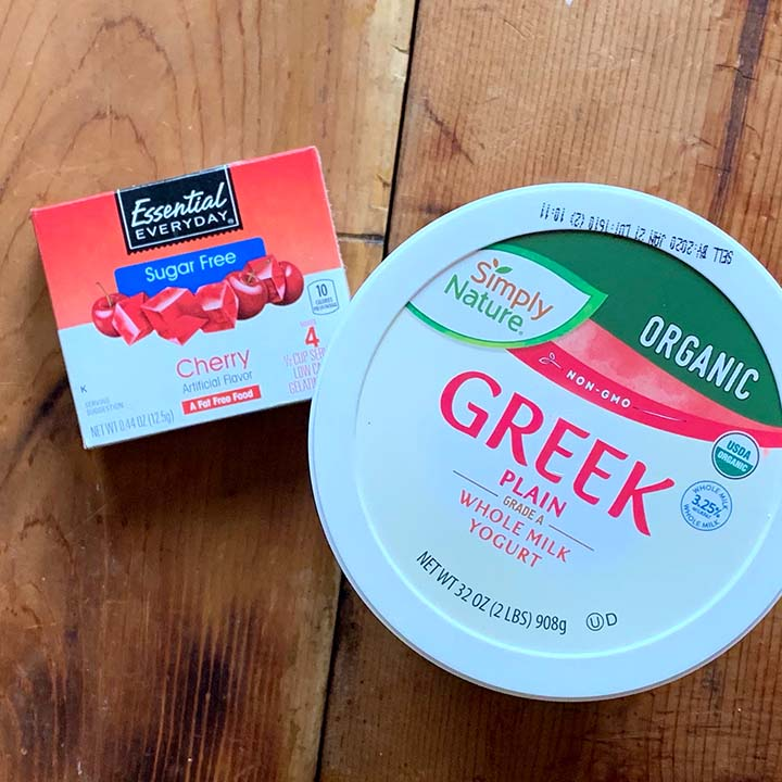 ingredients of Gluten Free Cherry Jello Whips