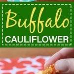 Pinterest pin for Keto buffalo cauliflower