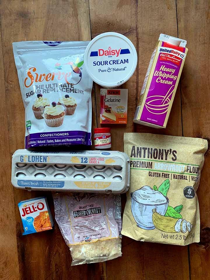 Ingredients for Orange Fluff Salad