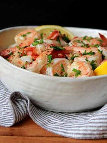 a bowl of Keto Paleo Shrimp Scampi