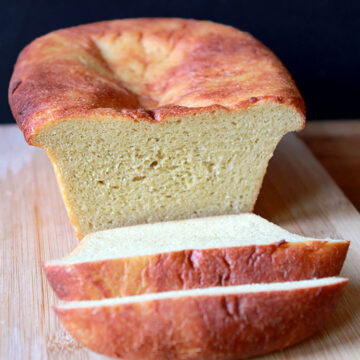 a sliced loaf of Keto Lupin Flour Sandwich Bread