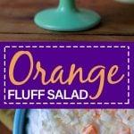 Pinterest Pin for Keto Orange Fluff Salad