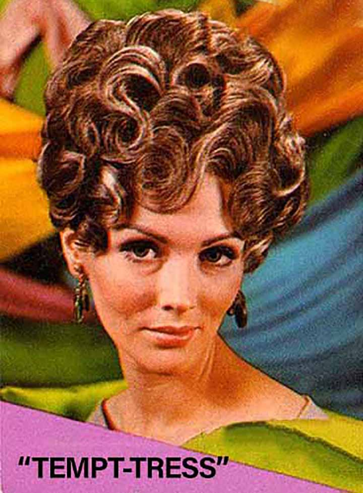 an ad from the 1960's for up hairdos