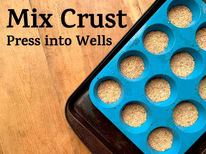 step 3 mix up the faux graham cracker crusts