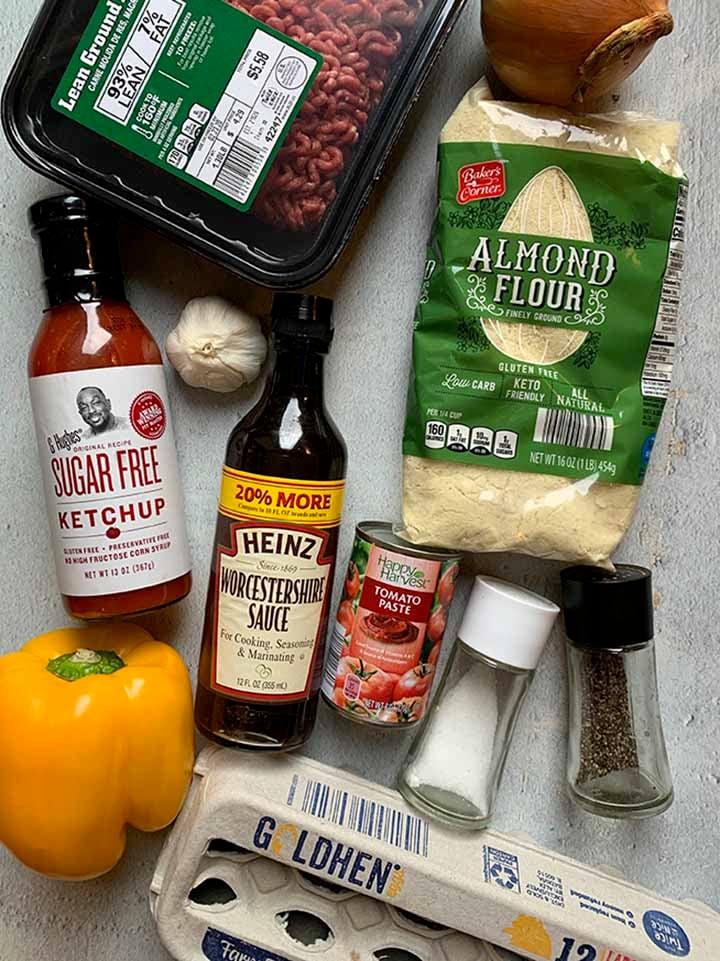 Low Carb Meatloaf Ingredients