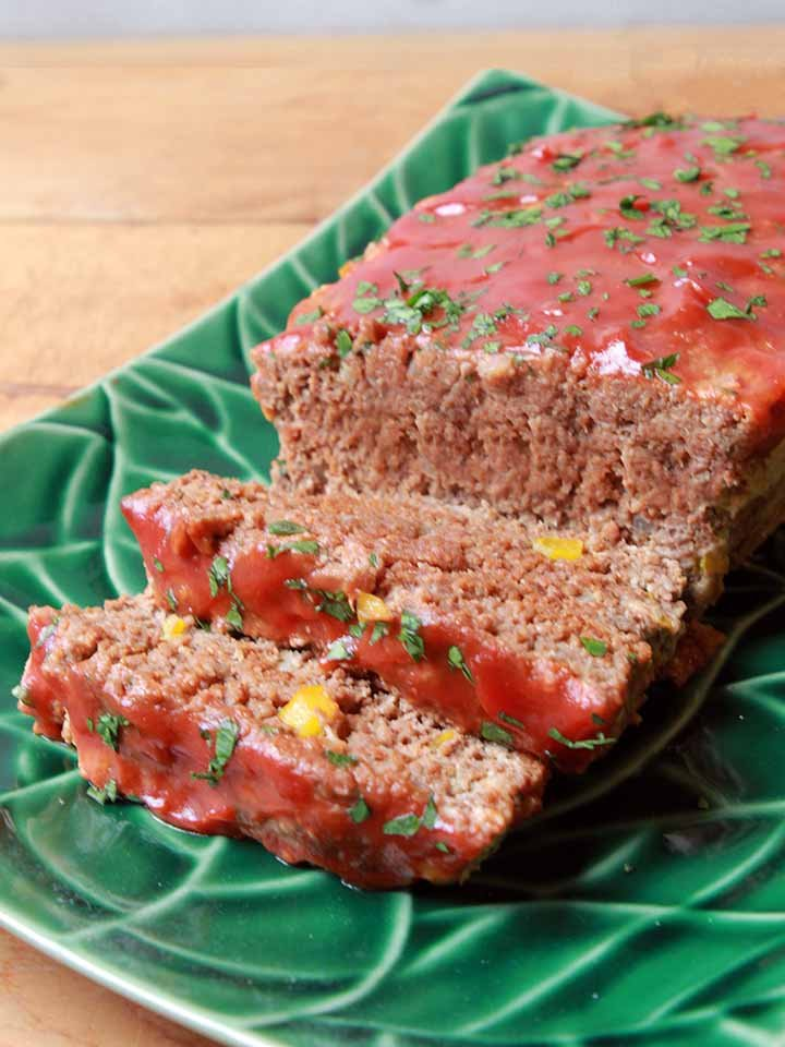 a side view of a Keto meatloaf
