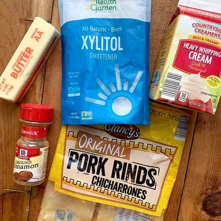 the ingredients of Keto Cinnamon Toast Crunch Cereal