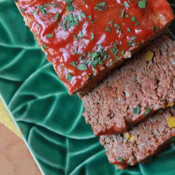 a Keto meatloaf cut into slices