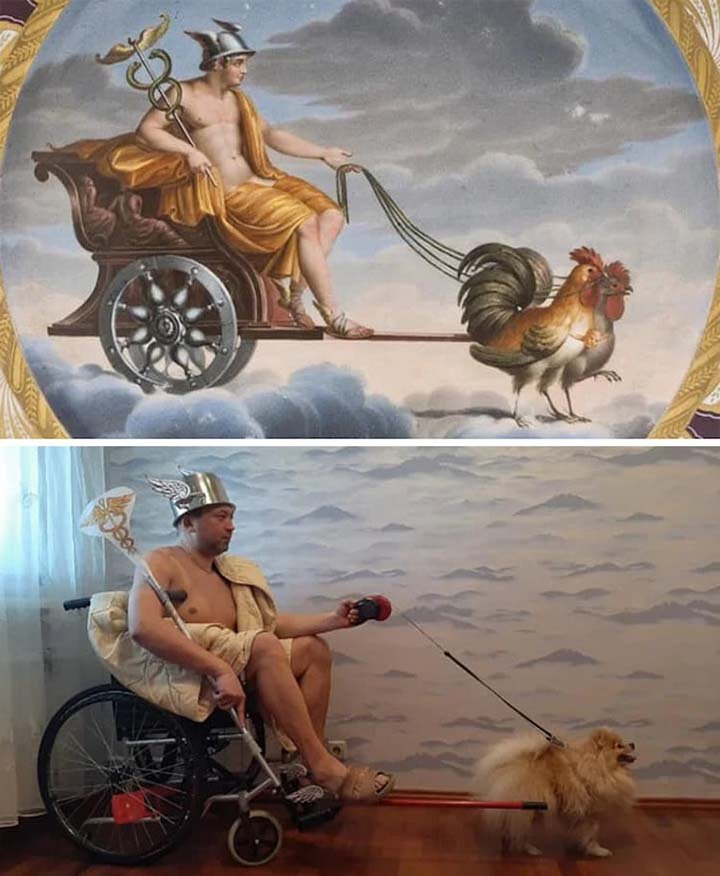 Man in a wheel chair-iot