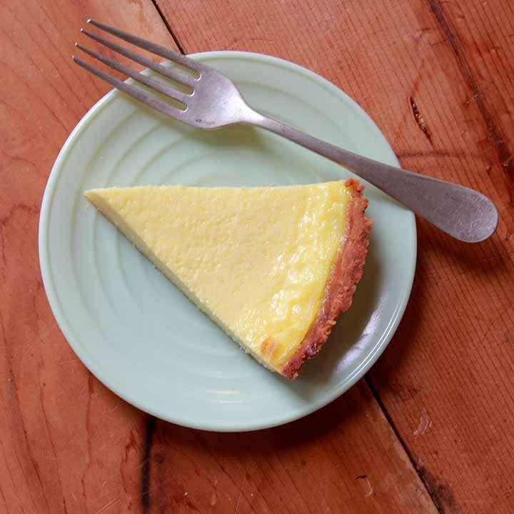 a top down view of a slice of gluten free pie