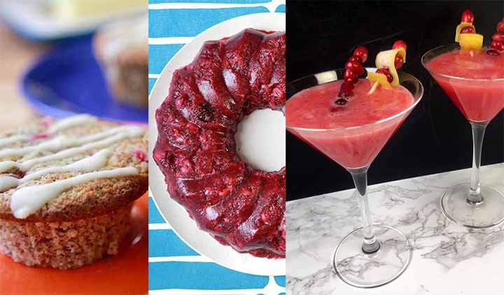 three recipes to use cranberries