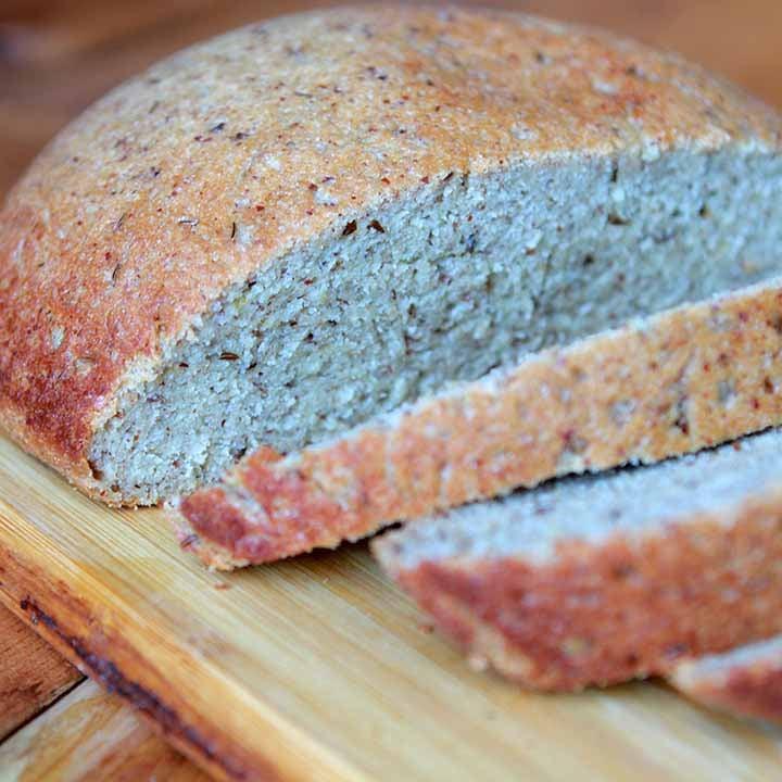 a sliced boule of Keto Yeast Bread
