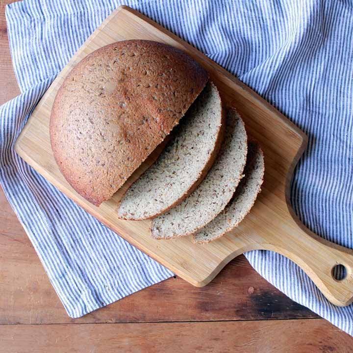 a boule of low carb bread
